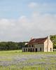 "The ""Bluebonnet House."" Taken near Marble Falls, Texas, USA."
