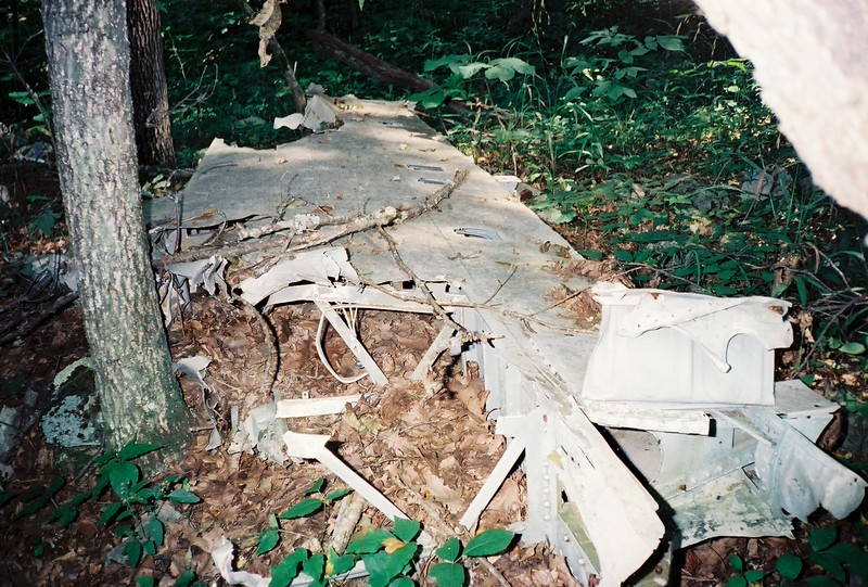 Remains of a wing section.