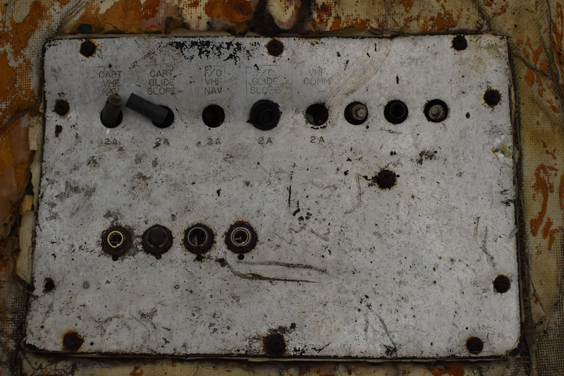 Detail of the circuit breaker panel.