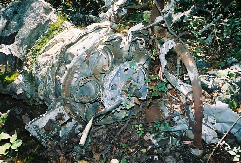 The #2 (RH) engine was destroyed back to the combustion section.  The holes are the portions of the combustions cans that direct the gasses toward the turbine section through the outlet guide vanes.
