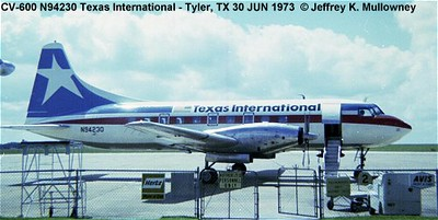 N94230 as it appeared in Tyler, TX on 30 June 1973, just three months before the crash. Photograph by Jeff Mullowney. Used with permission.