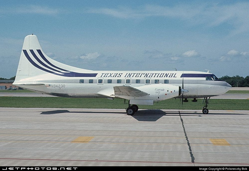 N94230 as it appeared at Dallas Love Field (DAL) in August 1971. Photograph by Bob Polaneczky.  Used with permission.