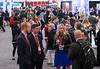 Attendees during opening of the exhibit hall