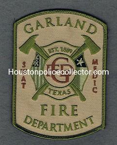 GARLAND SWAT MEDIC FIRE DEPT VELCRO