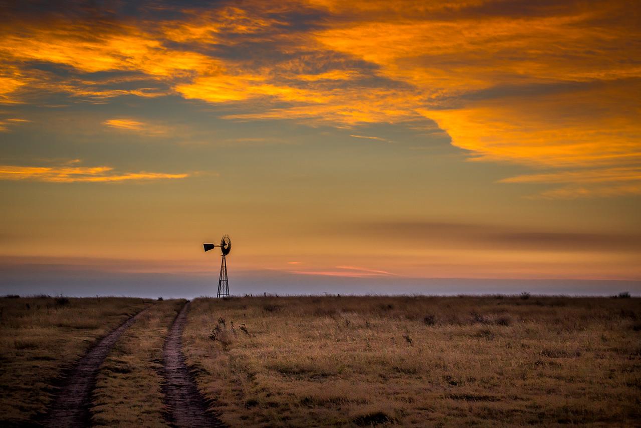 Sunrise near Pampa.