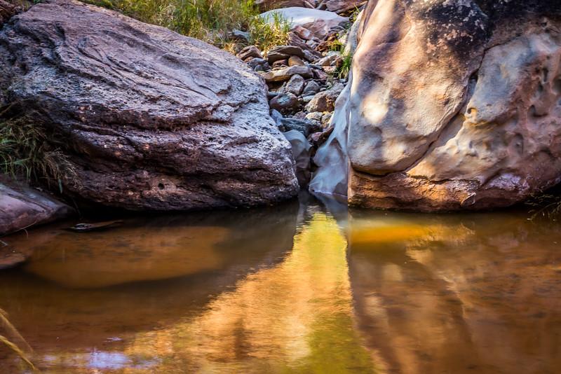 Stream Reflections, Palo Duro Canyon