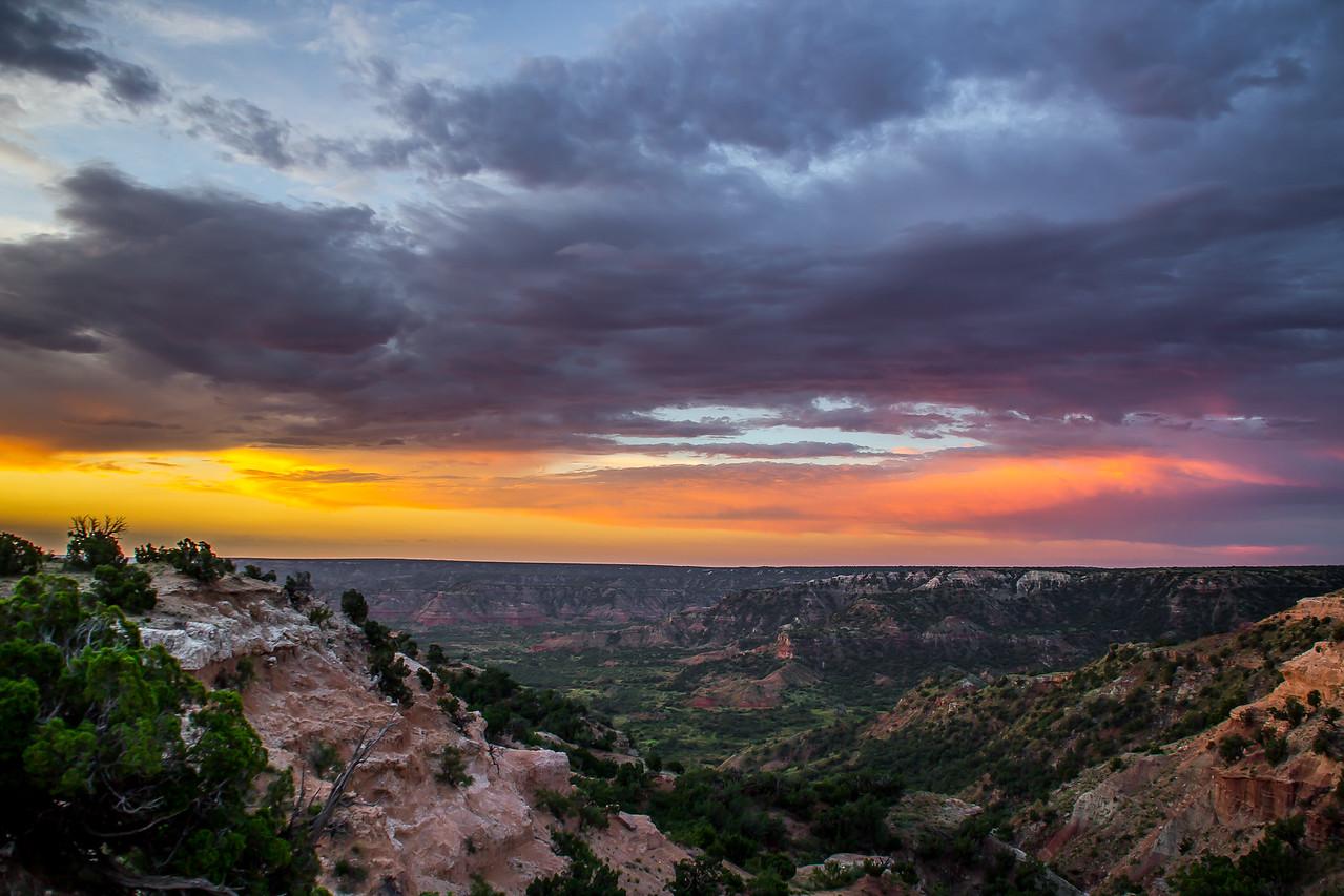 Palo Duro Canyon Morning Sky