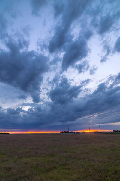 First light over Texas' Great Plains