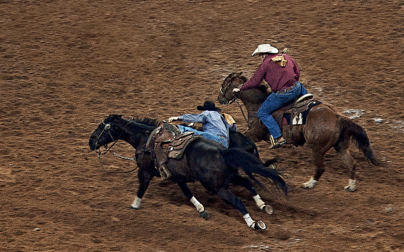 Calf Wranglin' Duo -Houston Livestock and Rodeo Show 2012