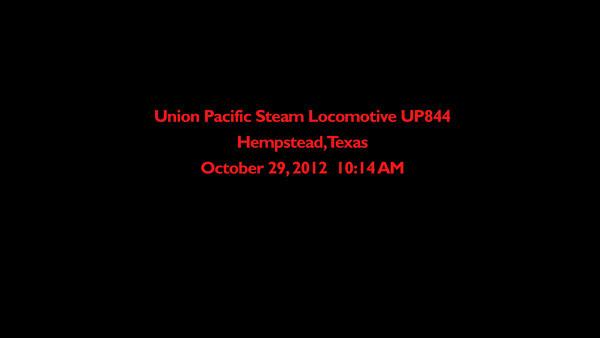 Video of UP844 Locomotive In Hempstead Texas