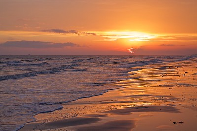 Sun Set Sea Rim State Park Texas