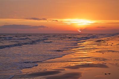 Sun Set Sea Rim State Park Texas