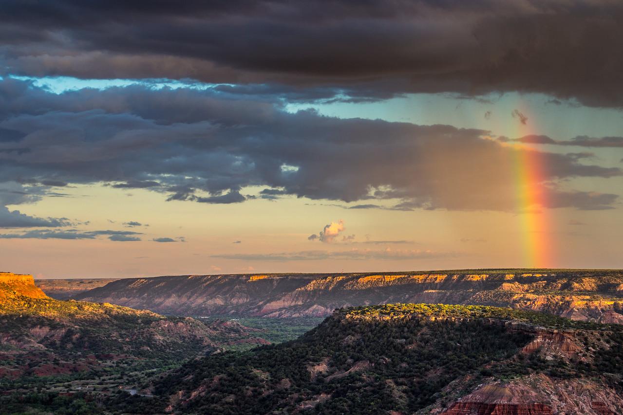 Palo Duro Canyon rainbow