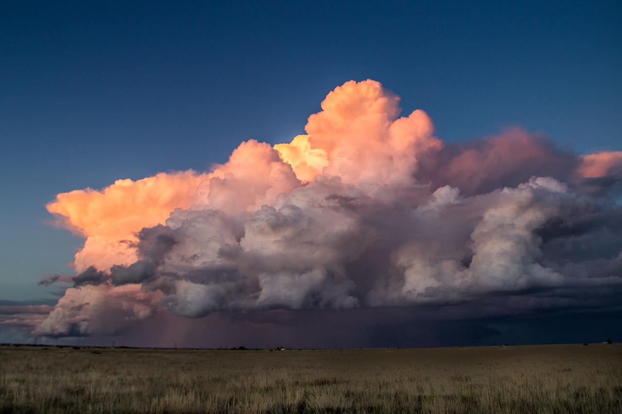 Evening thunderstorm near Canyon, Texas