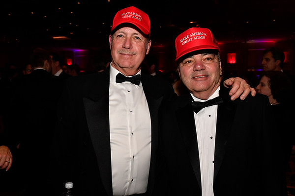 WASHINGTON, DC - JANUARY 19:  Bill Klein, (L) of Woodbridge, VA and Bill McDaniel of Dumfries, VA attend the Texas State Society of Washington, D.C. Black Tie and Boots Presidential Inaugural Ball at the Gaylord National Resort & Convention Center on January 19, 2017 in Washington, DC.  (Photo by Larry French/Washington Life Magazine)