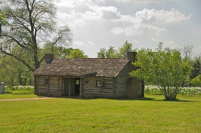 San Felipe de Austin  Old Cabin and Field