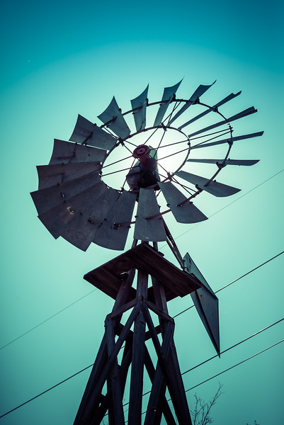Old Texas Windmill