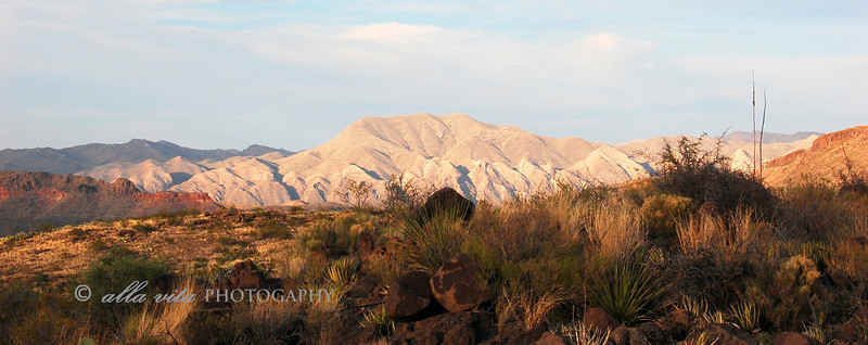 Chisos Mountains panoramic #3