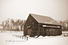 New World Dutch Barn in Winter #2C