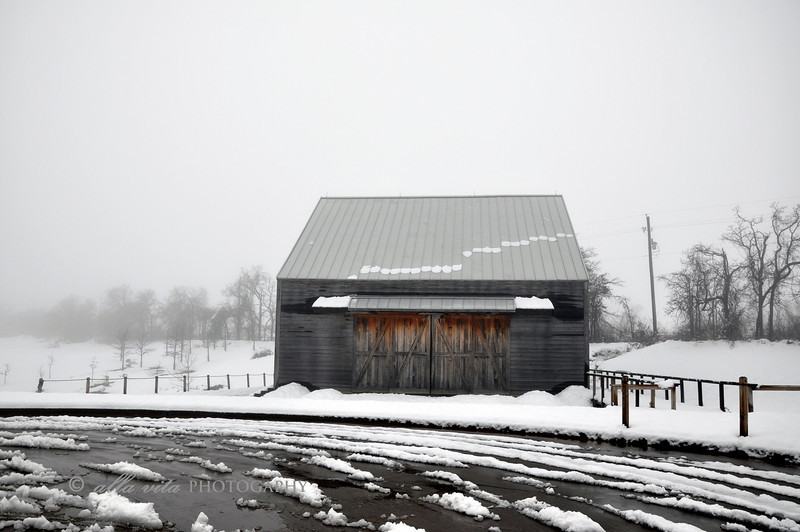 New World Dutch Barn in Winter