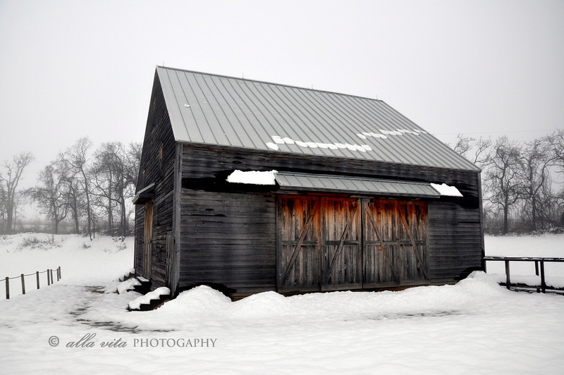 New World Dutch Barn in Winter #3