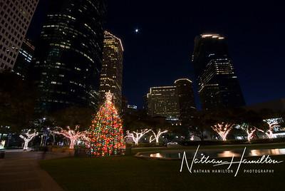 Downtown Houston Christmas lights