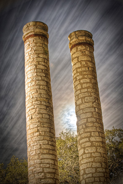 """""""The Columns"""" - Entrance to Old Baylor Women's College - Independence, TX"""