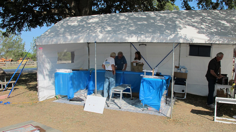 Little House Customs sales tent - much bigger than last year!