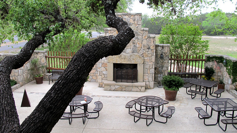 One of their outdoor patios.