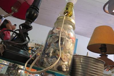 button jar lamp