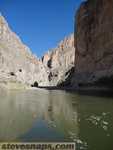 Boquillas Canyon on the Rio Grande river. Mexico is to the right