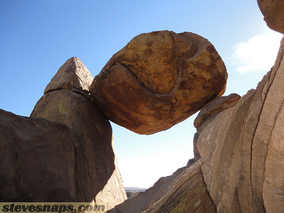 Balanced rock in Grapevine mountains. Big Bend National Park.