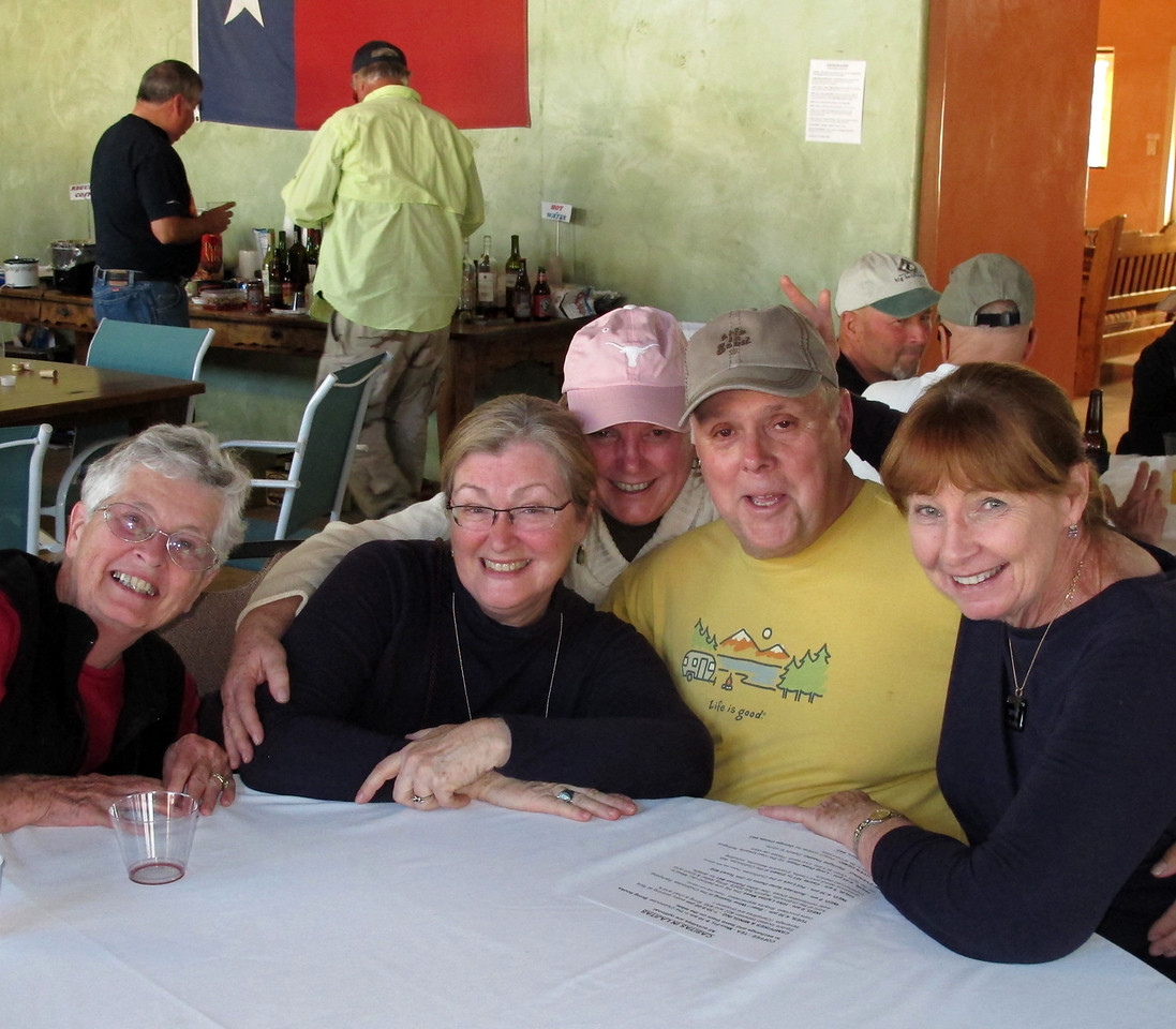 Joyce Smith, Jane McConnell, Sandy Riney, Martin & Kathie Reid