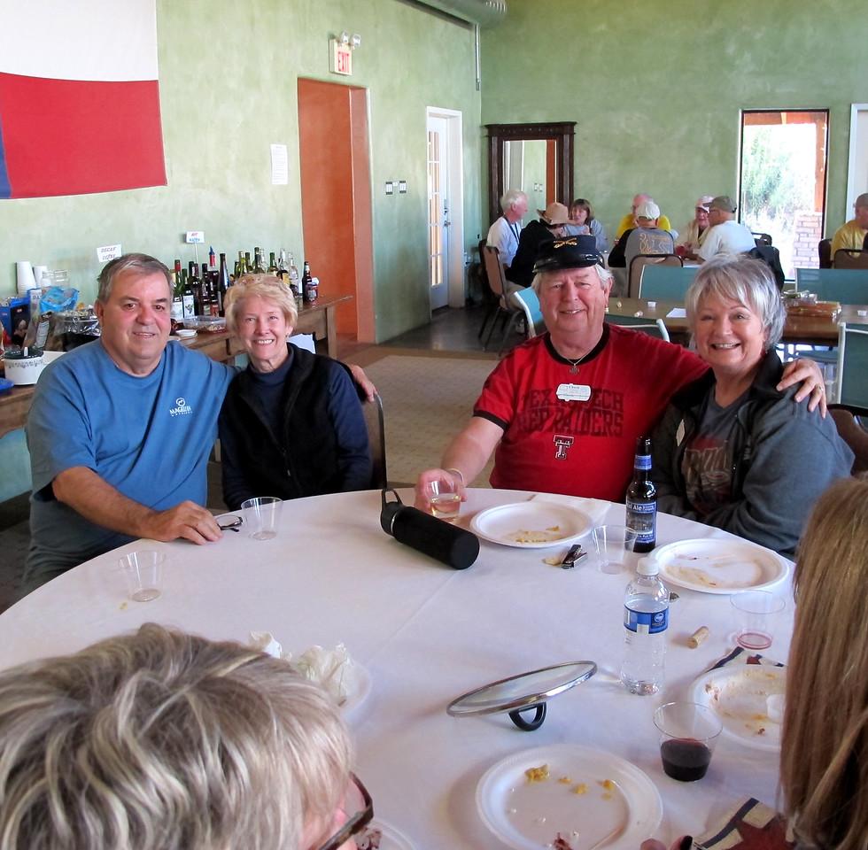 L to R:  John & Brenda Croom, Chuck & Cheryl Smith