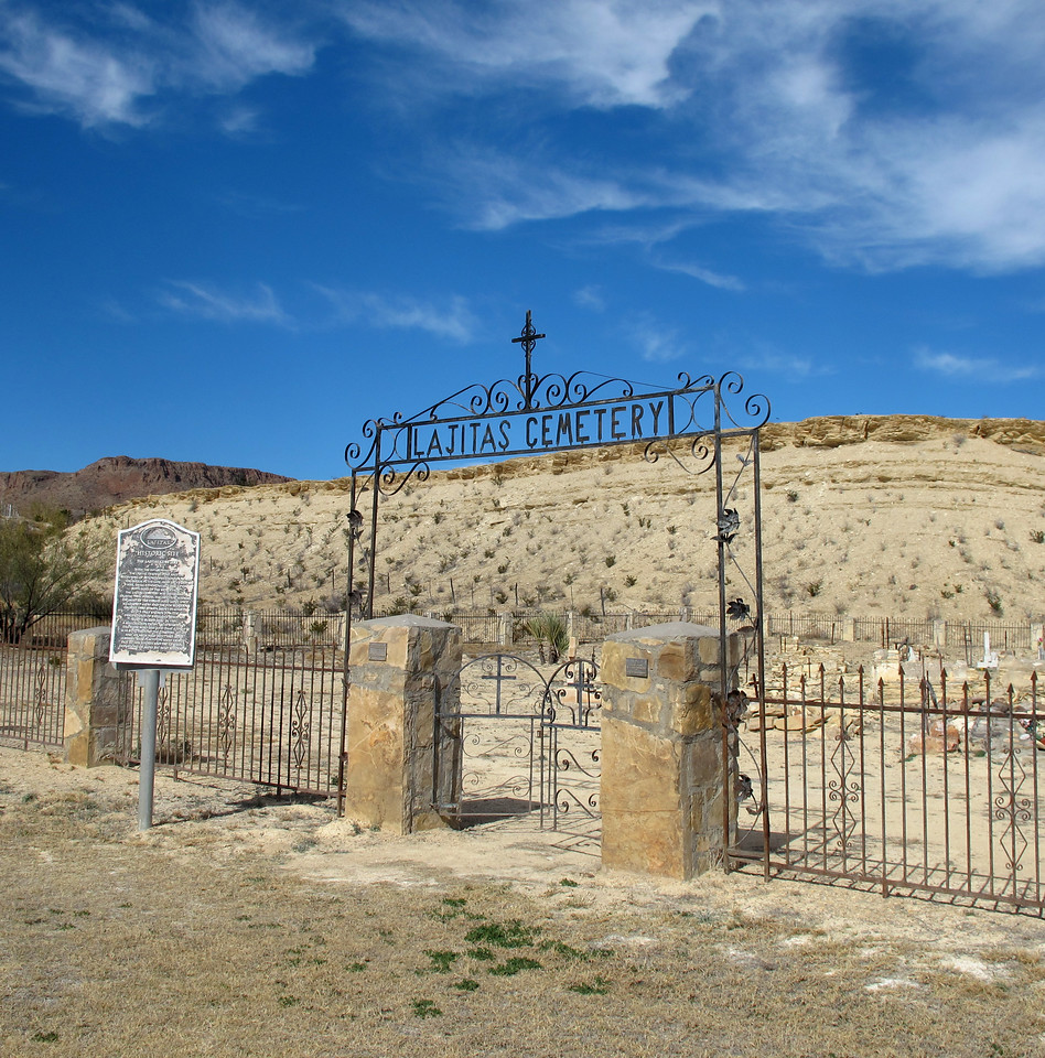 Lajitas Cemetery ~ At the entrance to Maverick RV Park