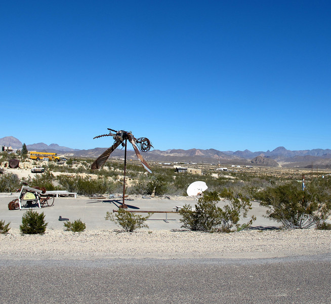 Dragonfly sculpture at Terlingua