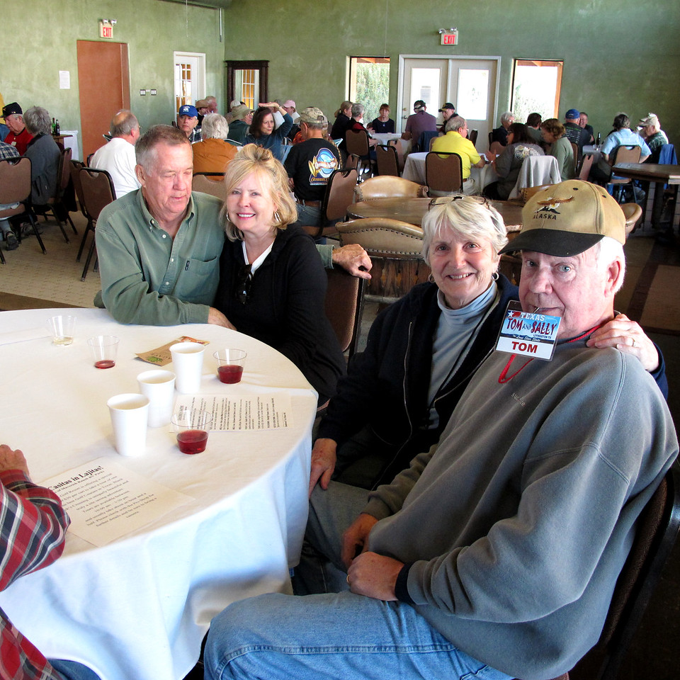 L to R:  George & Betsy Chaffee, Sally & Tom Morrison