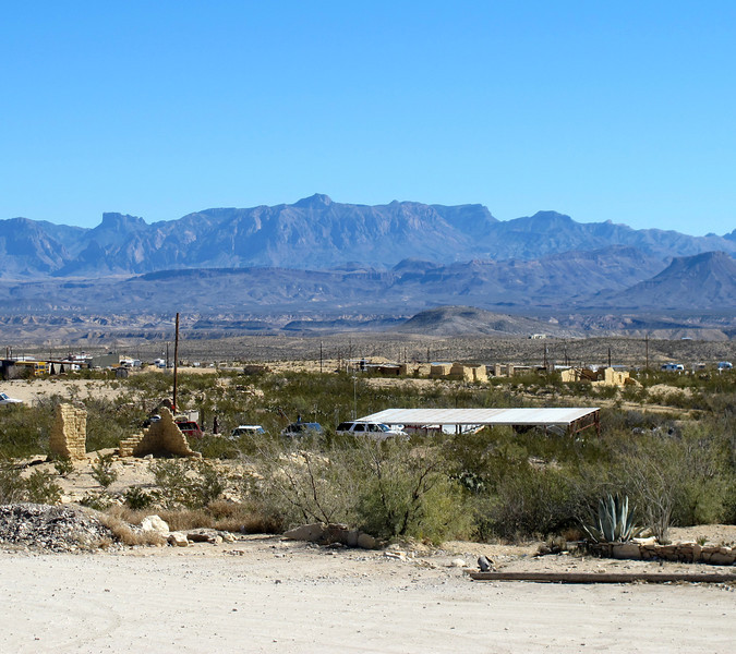 View of the Chisos Mountains from The Porch