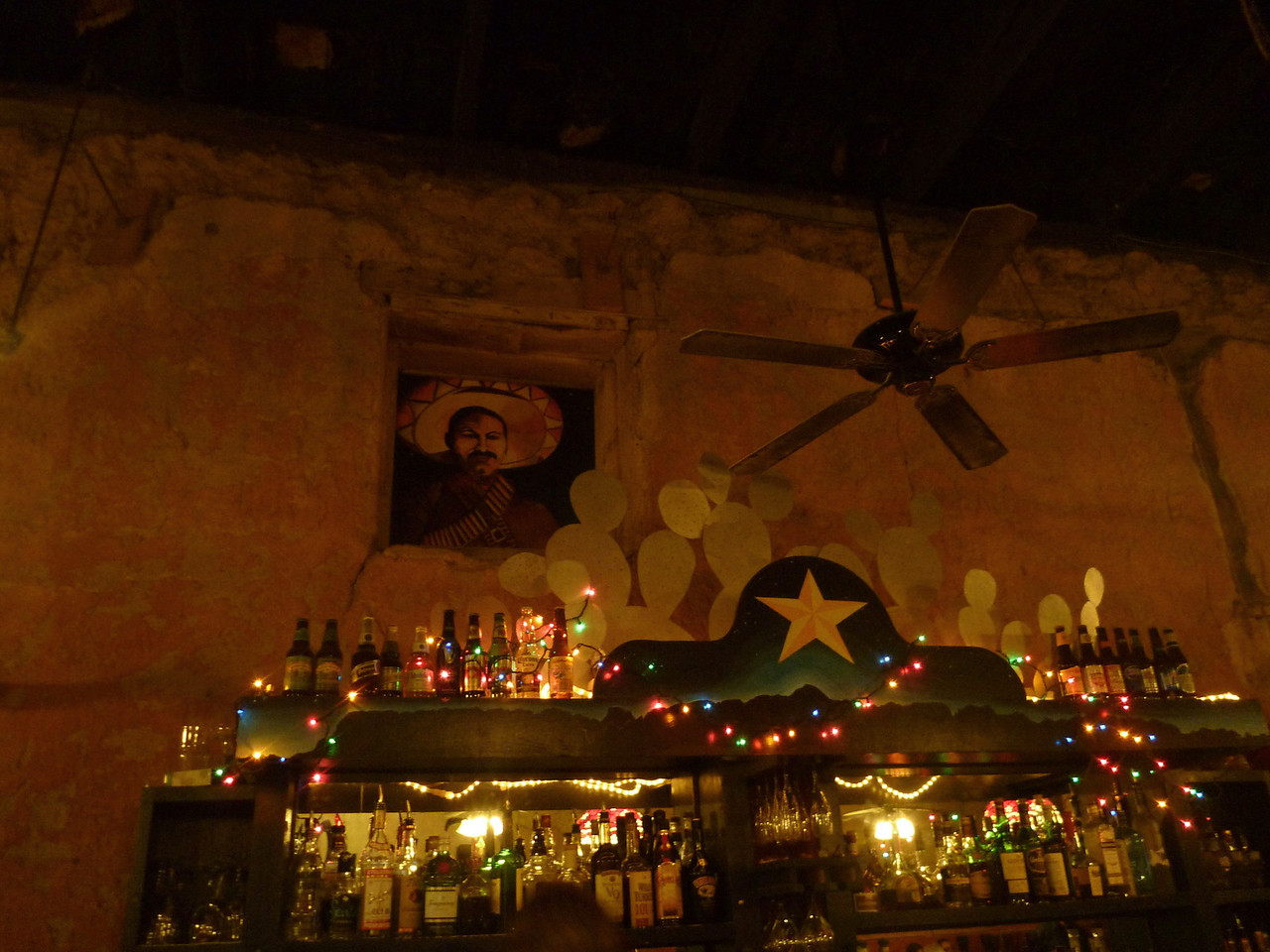 Poncho Villa peers over the bar at the Starlight.  (Photo by Pete Marks.)