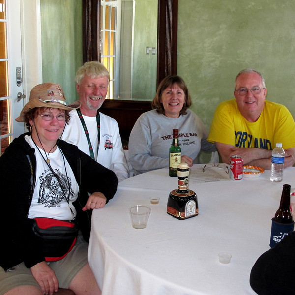 L to R:  Deb & Tom Mohan (who brought that deluxe Creme de Tequila sitting on the table), Lisa & Mike Rynearson