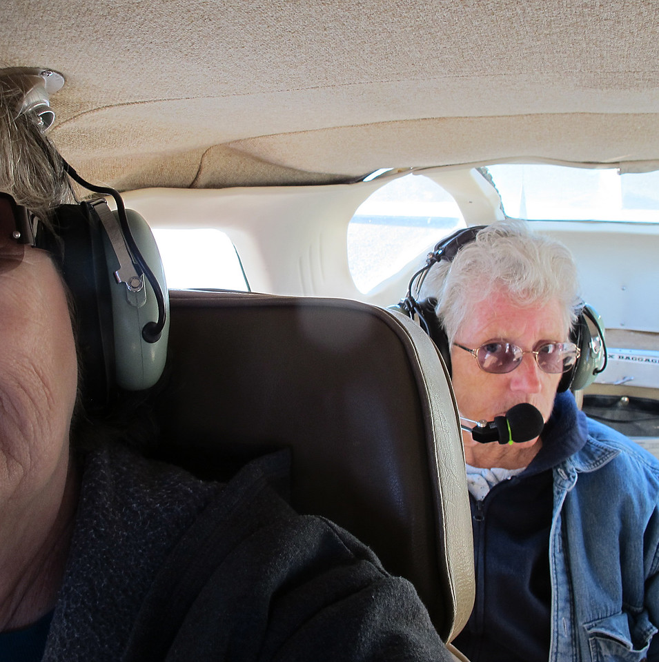 Carolyn was assigned the jump seat in back.