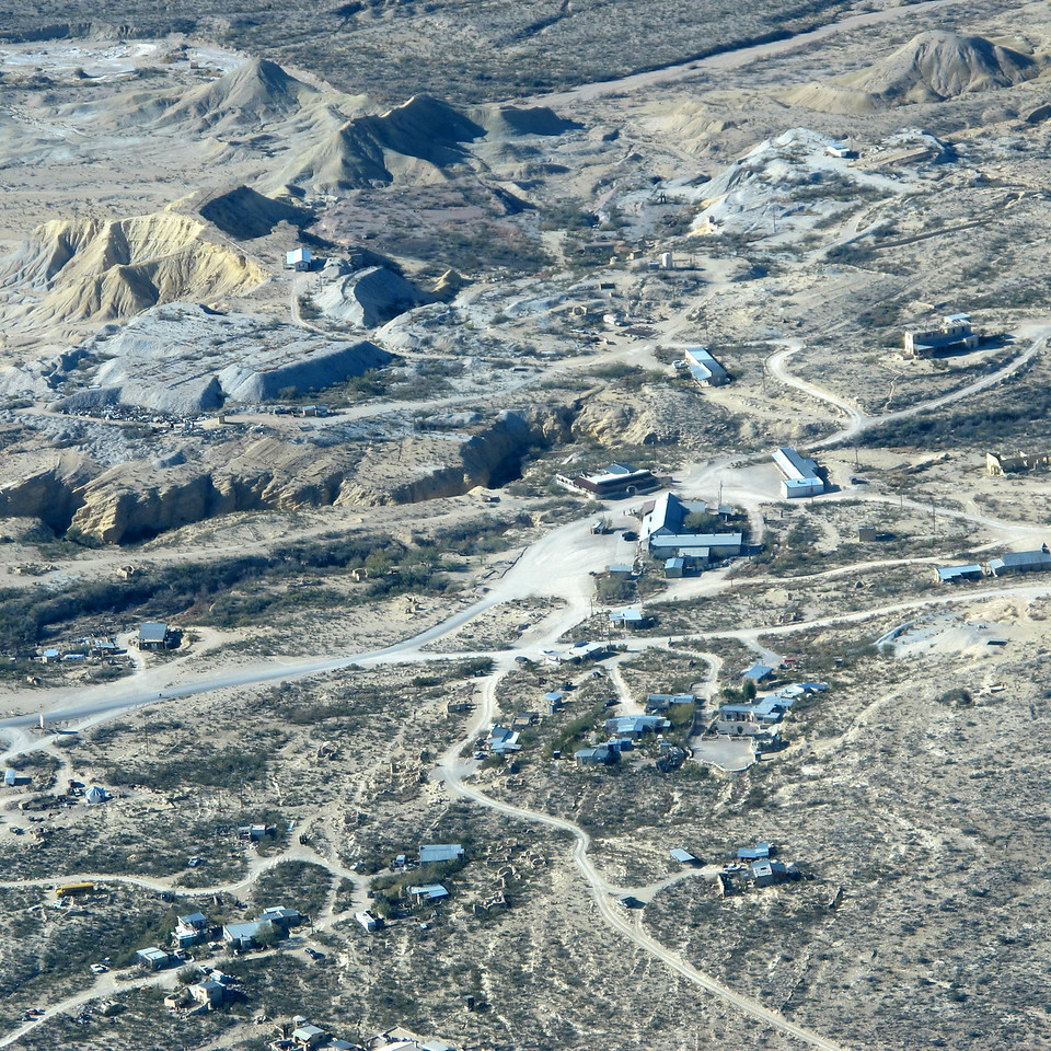 Terlingua. The Mercantile and Starlight are the L-shaped buildings, center right.