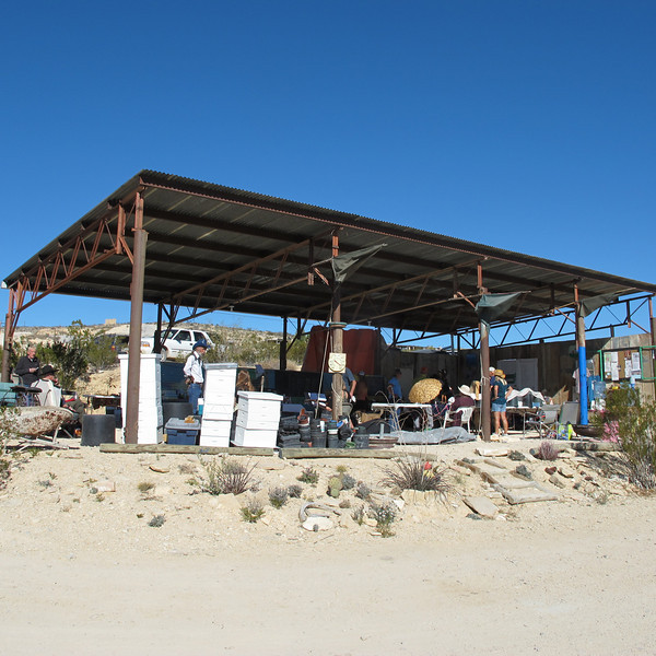 Terlingua Farmer's Market, open on weekends. Not so much on the fruits and veggies, but there's a lot of homemade goodies.