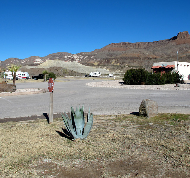 View of Maverick RV Park north side campground and my Casita from the office, pre-Rally.