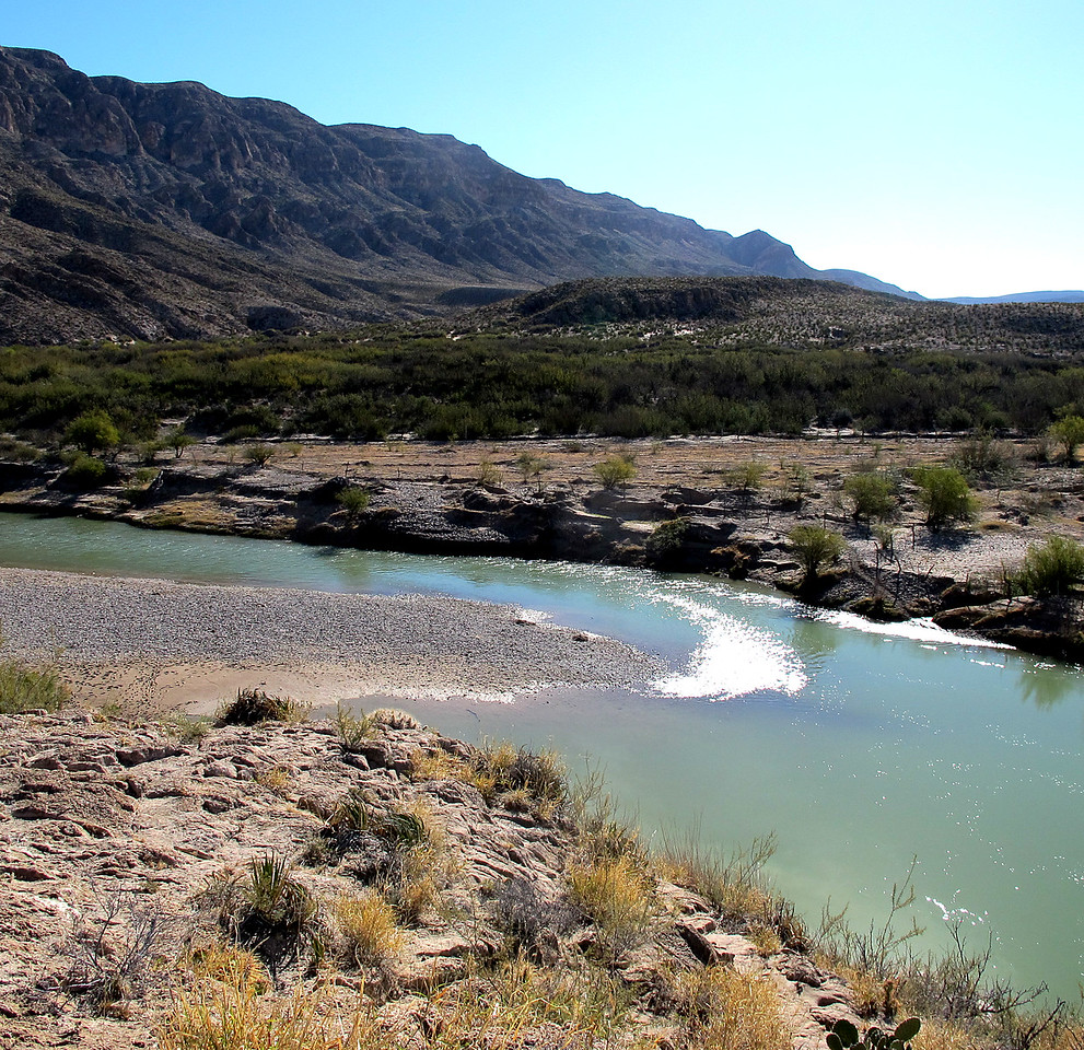 The Rio Grande, Bouquillas Canyon, Big Bend NP. That's Mexico on the other side. Just a swim away.