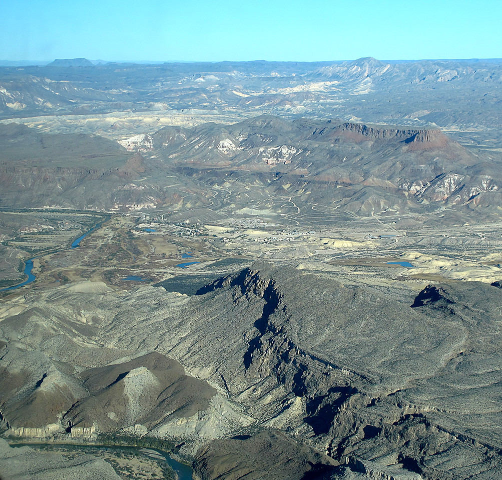 Lajitas and Maverick RV (center) is close to the Rio Grande.