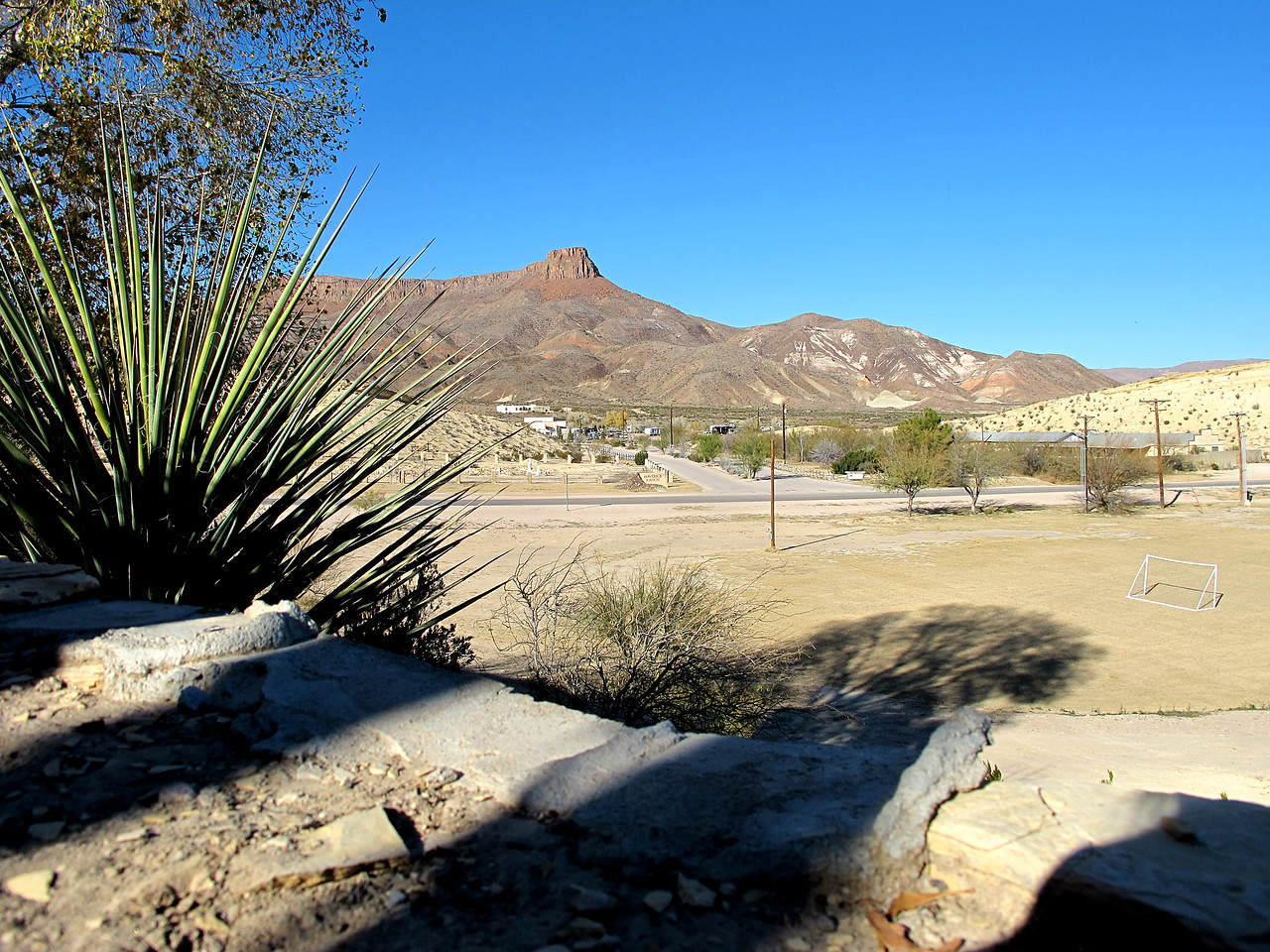 View of Maverick RV Park entrance from the Resort patio.