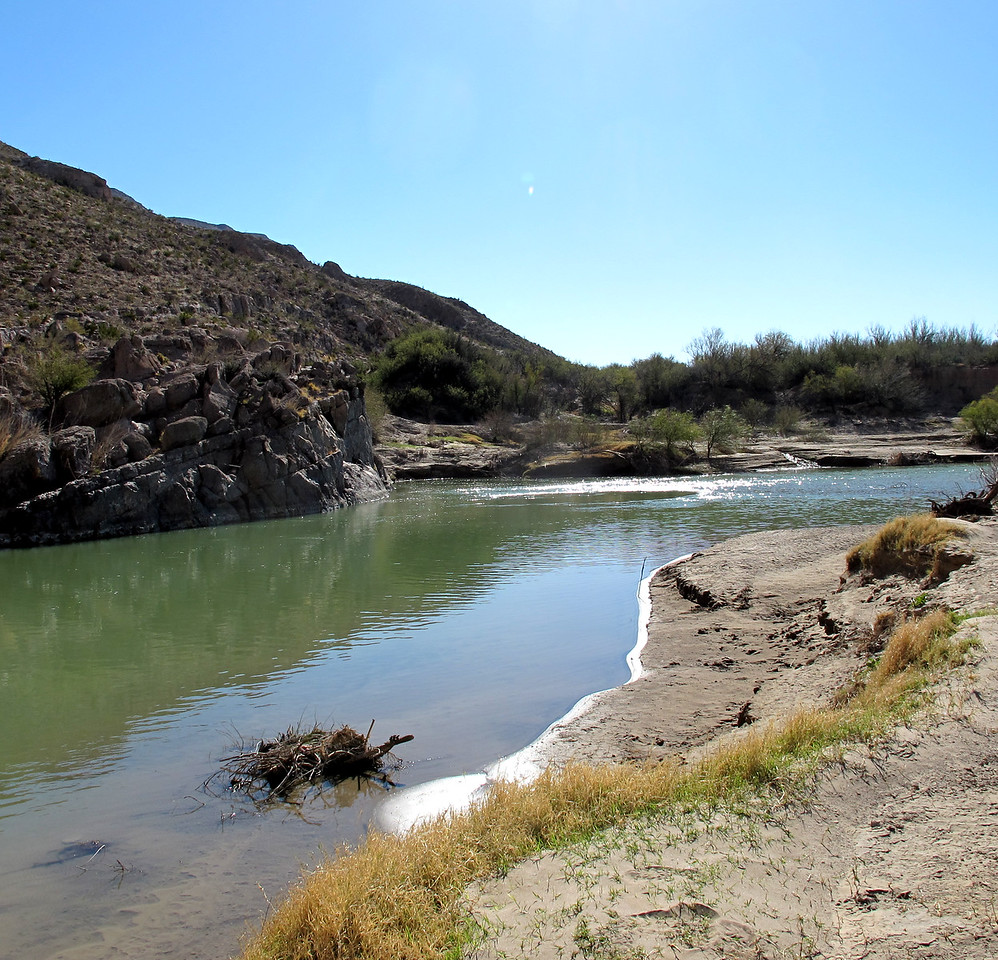 The Rio Grande, Bouquillas Canyon, Big Bend NP