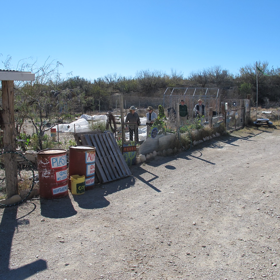 Community gardens at the Terlingua Farmer's Market.