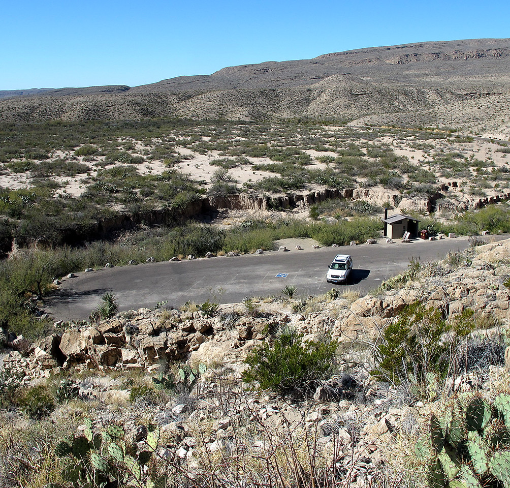The parking lot of Bouquillas Canyon, Big Bend NP